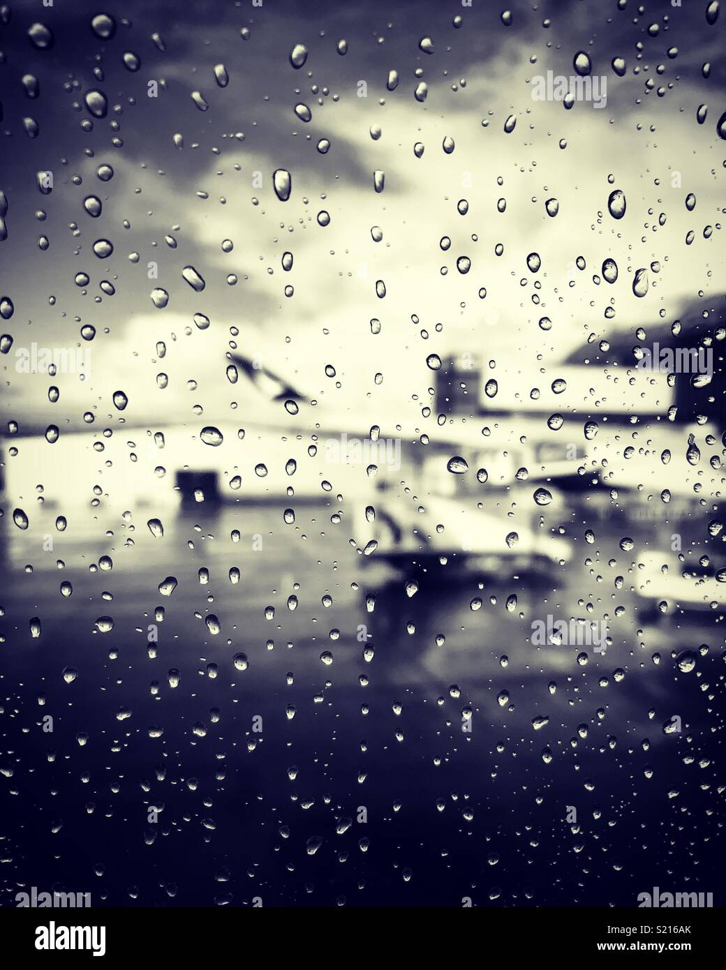 Arty shot from the aeroplane window - Stock Image