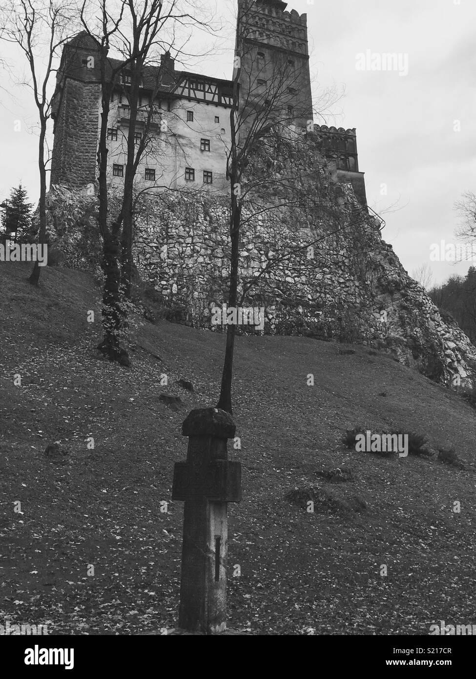 Castle Bran in Transilvania Stock Photo