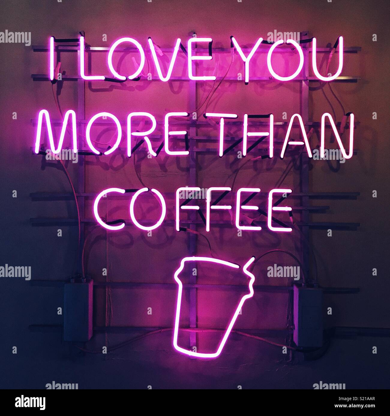 I love you more than coffee - Stock Image