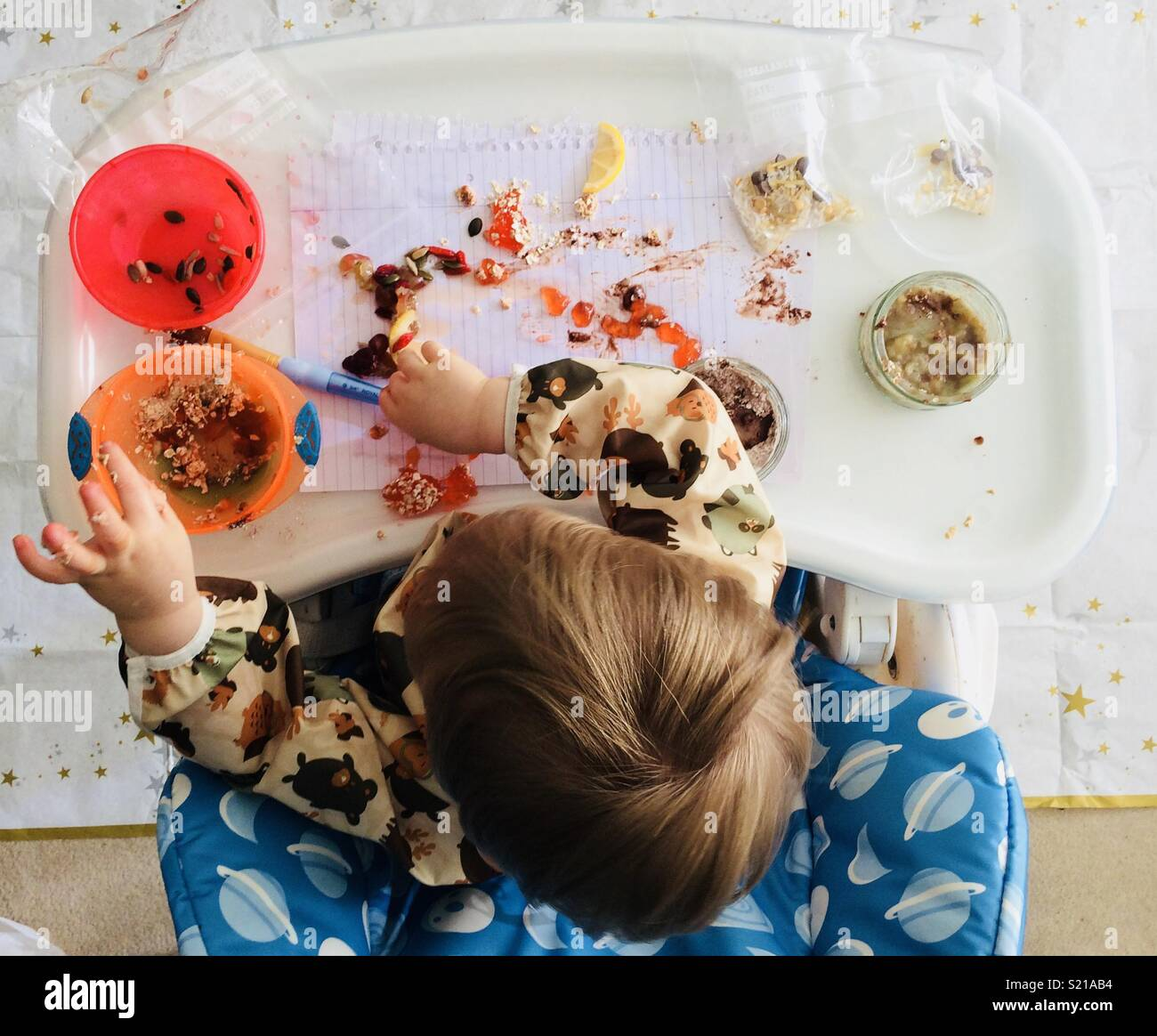 Messy play - Stock Image