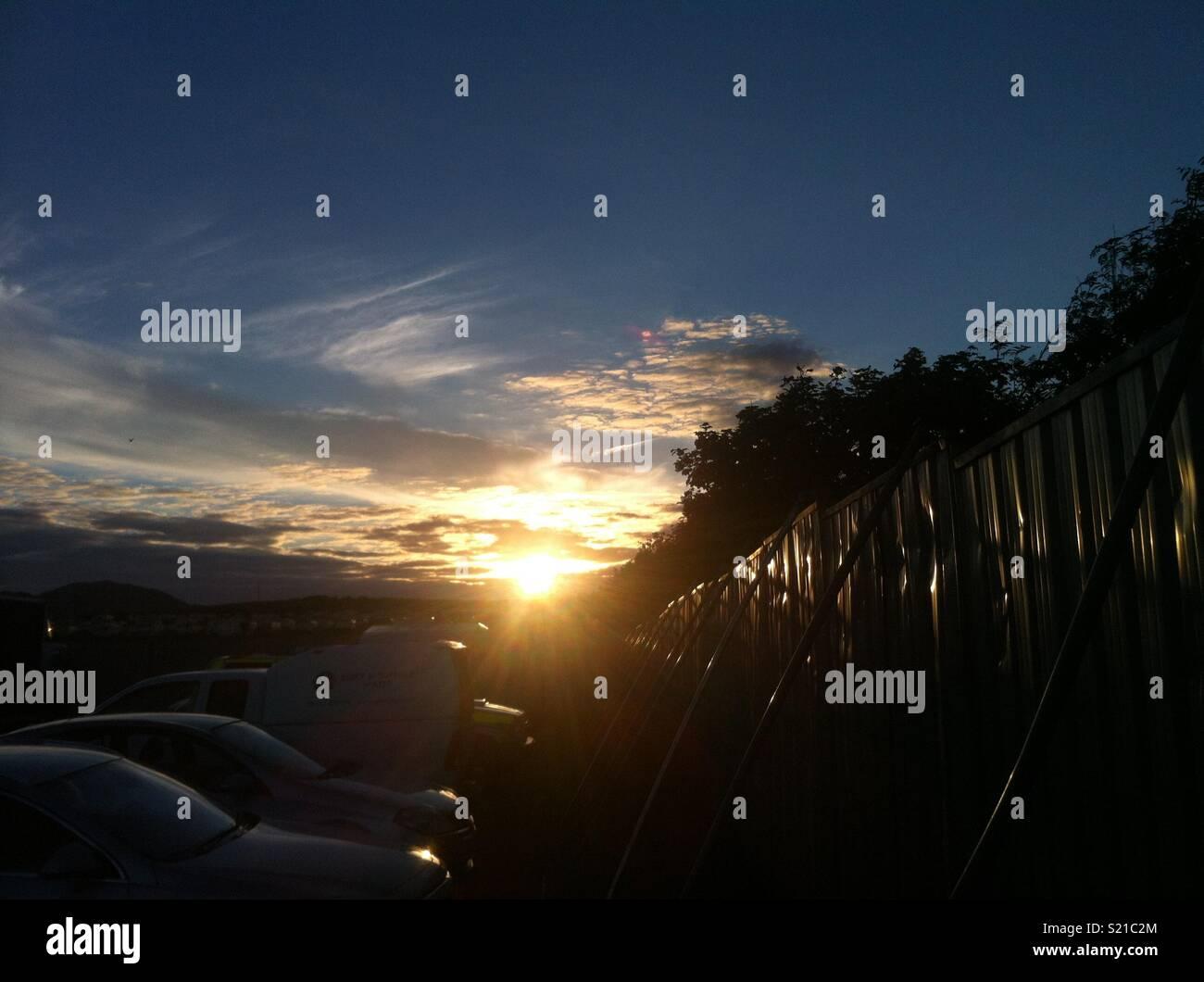 Beautiful country views in Daresbury, Cheshire England, Uk - Stock Image