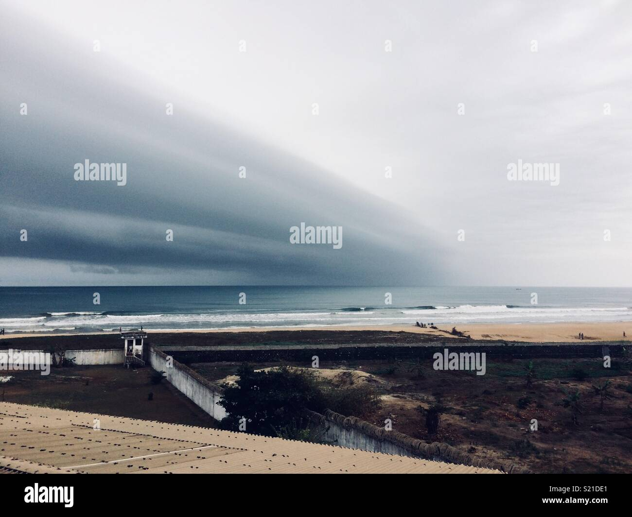 A storm brewing in Monrovia, Liberia - Stock Image