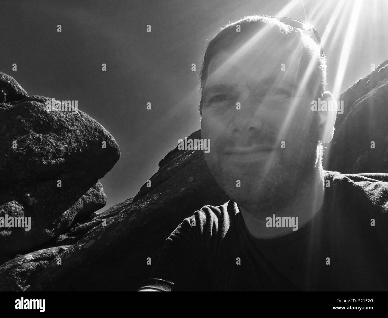 Devon in the sun - Stock Image