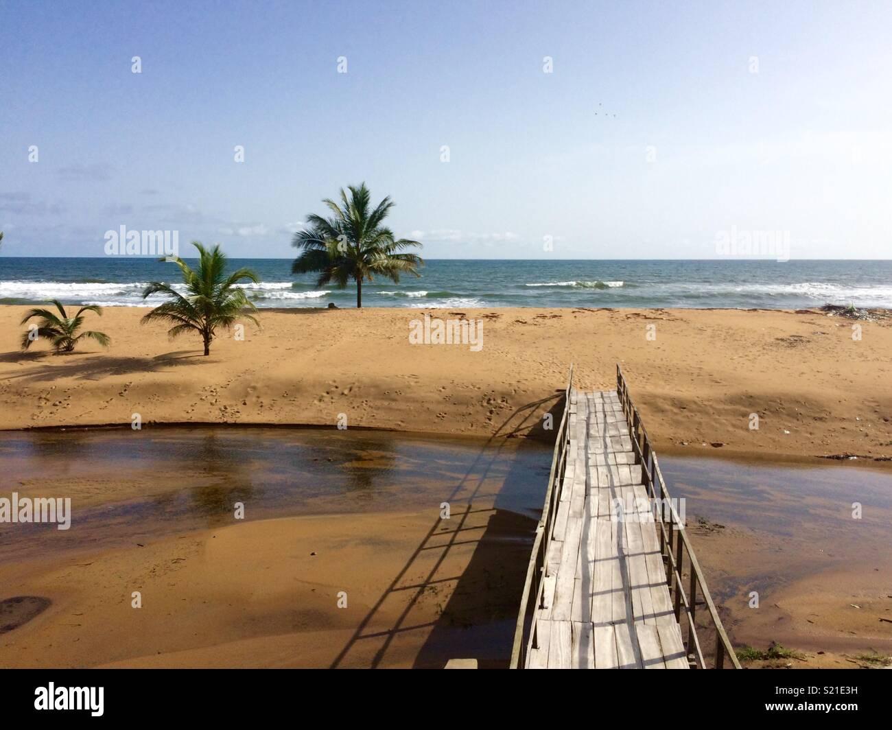 Silver beach in Monrovia, Liberia - Stock Image