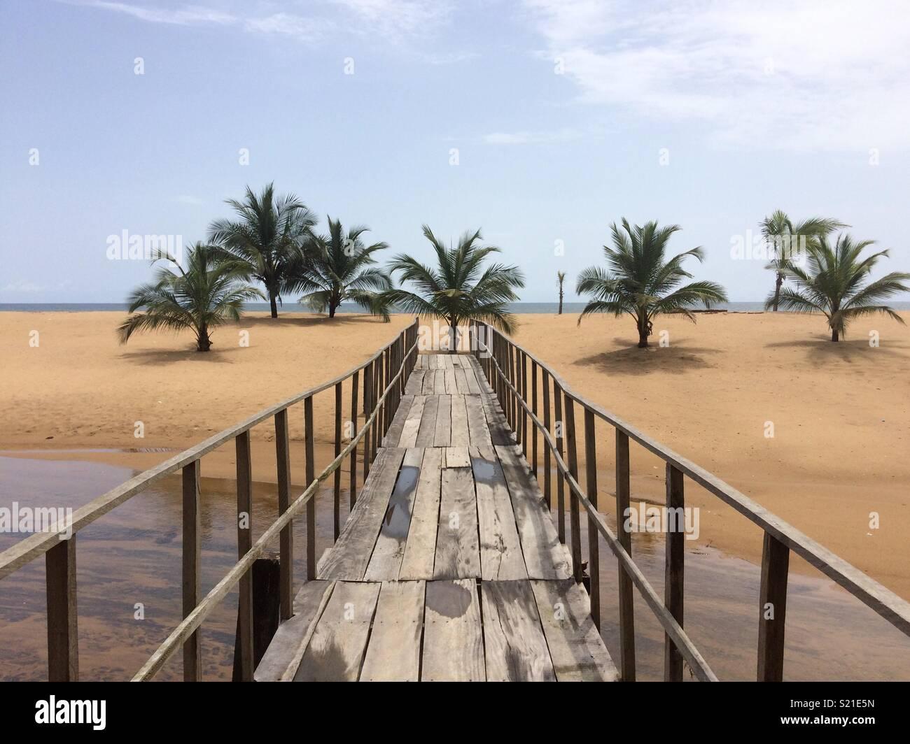 Bridge to paradise - Stock Image