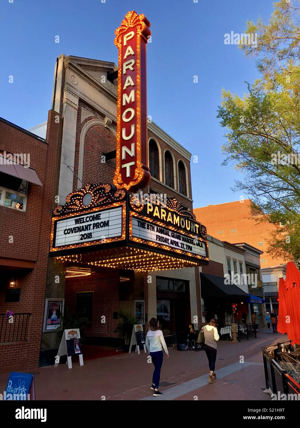 Paramount theatre in Charlottesville, Virginia, USA - Stock Image