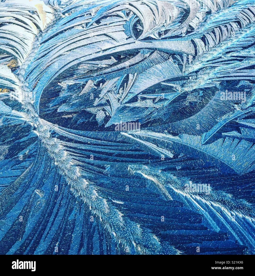 Frosted windscreen - Stock Image