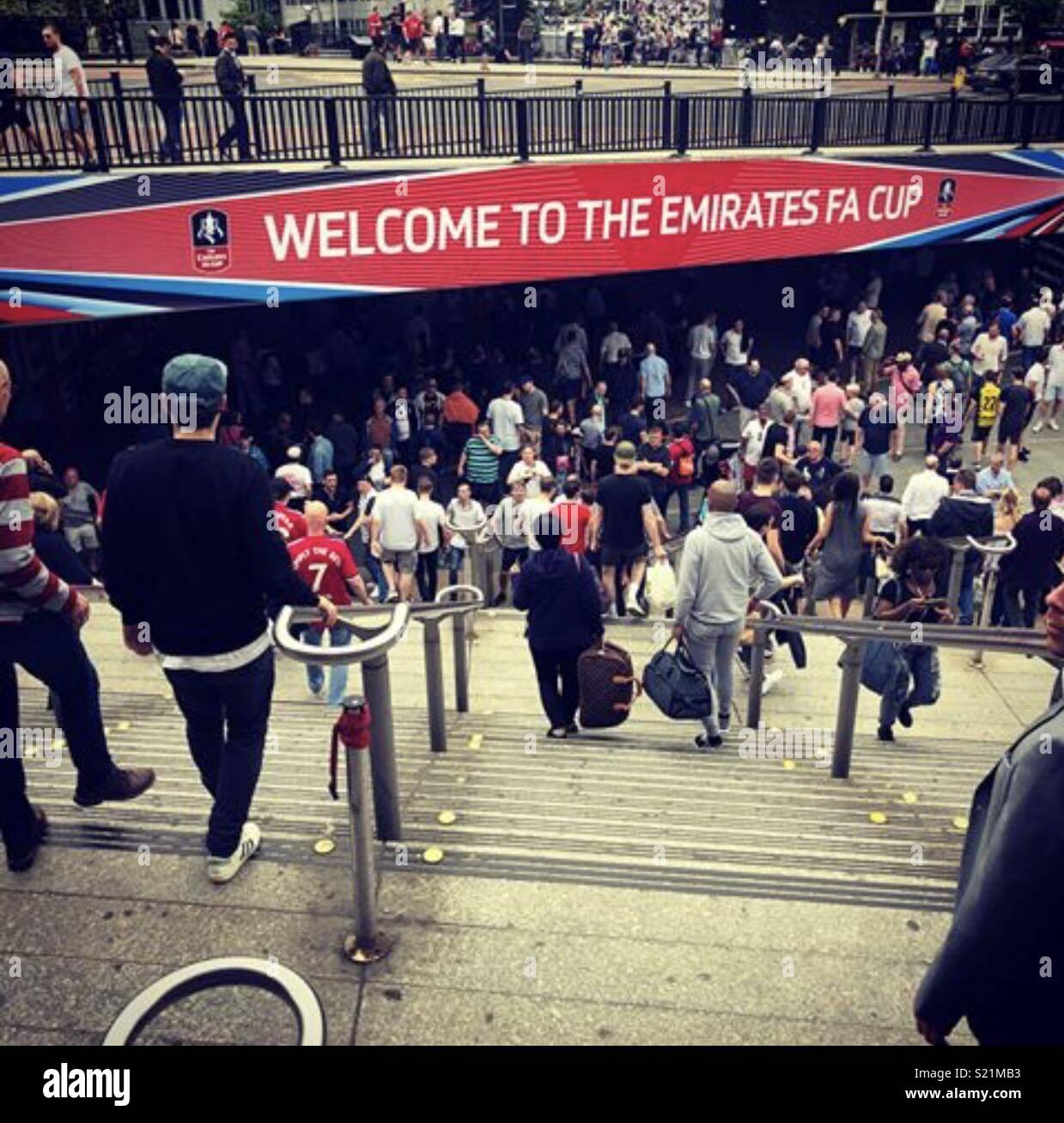 FA Cup, Wembley Way - Stock Image