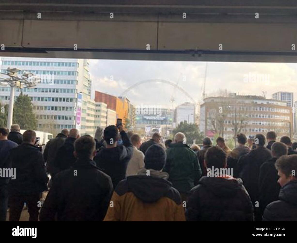 Arriving at Wembley - Stock Image