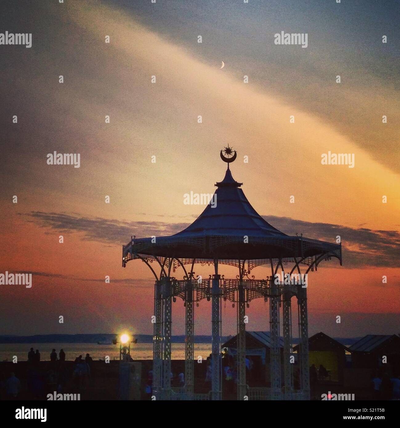 Bandstand at sunset - Stock Image