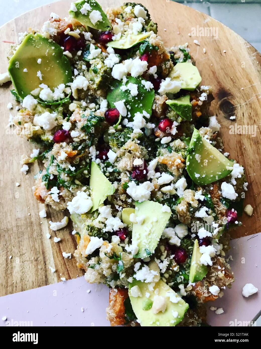 Quinoa Salad Feta Pomegranate Avocado High Resolution Stock Photography And Images Alamy