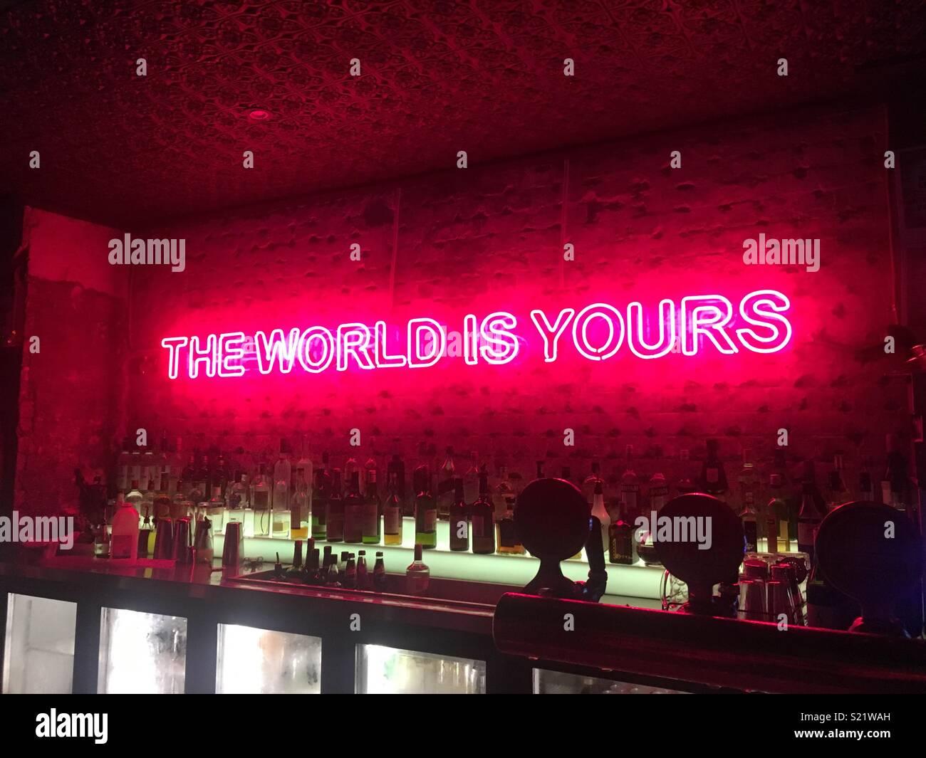 Neon quote - Stock Image