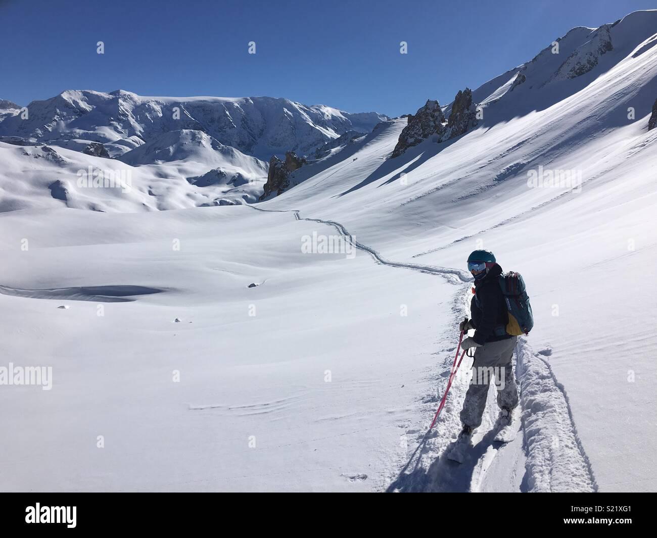 Snowy adventure - Stock Image