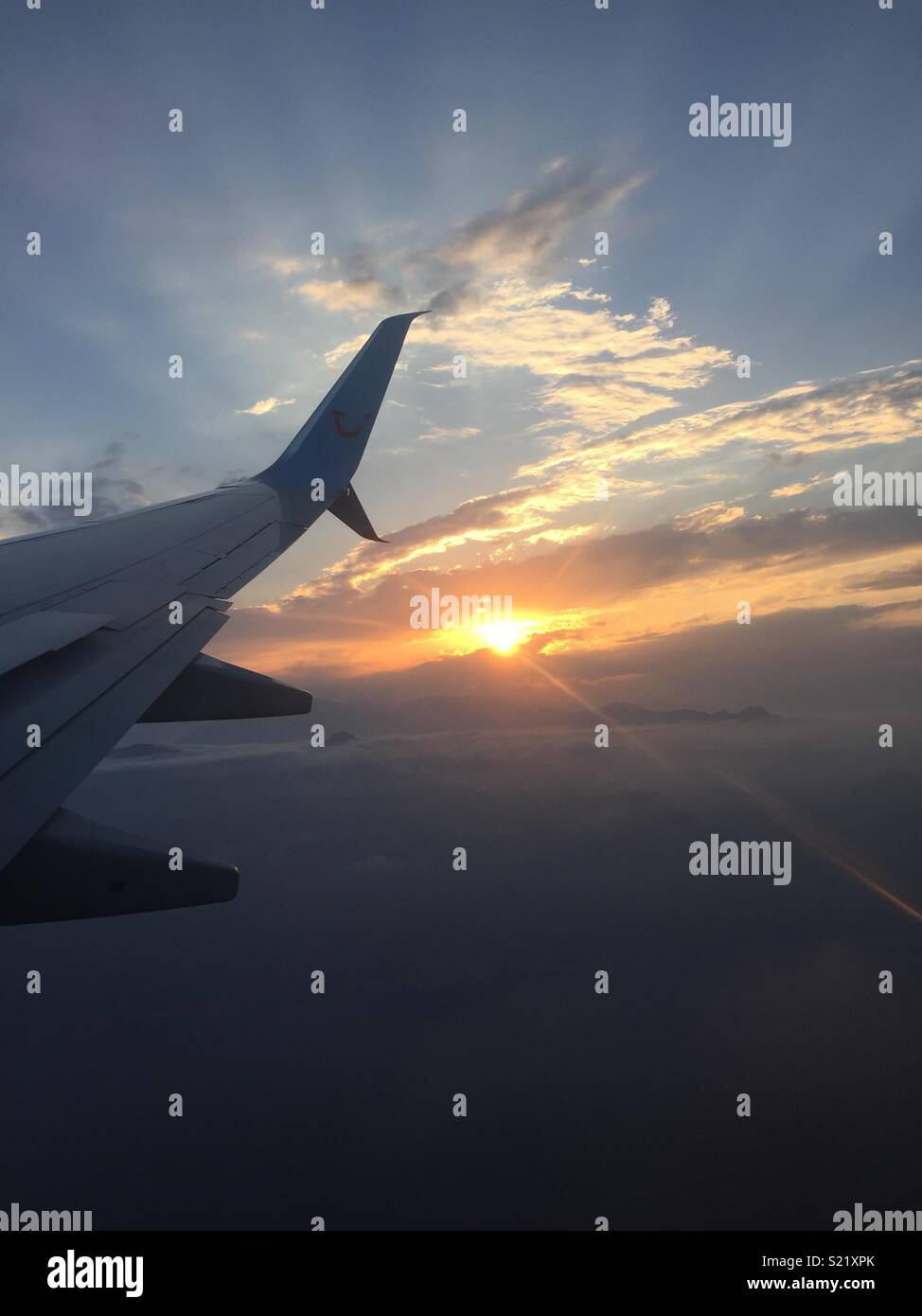 In a plane - Stock Image