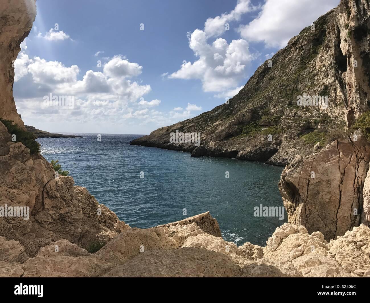 Malta, Gozo sea view - Stock Image