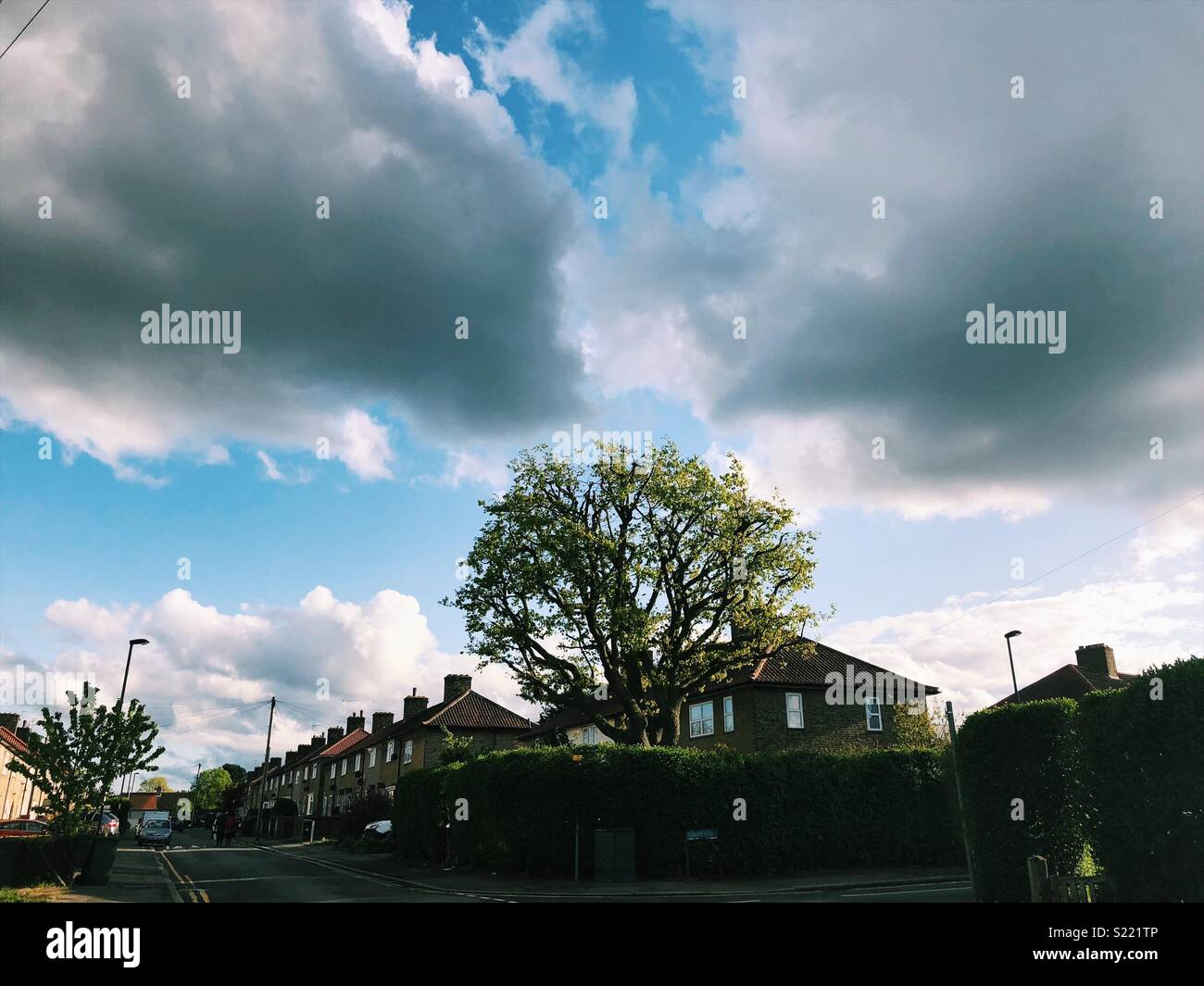 Bromley blue sky - Stock Image