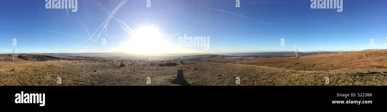 Knowl Hill Panorama - Stock Image