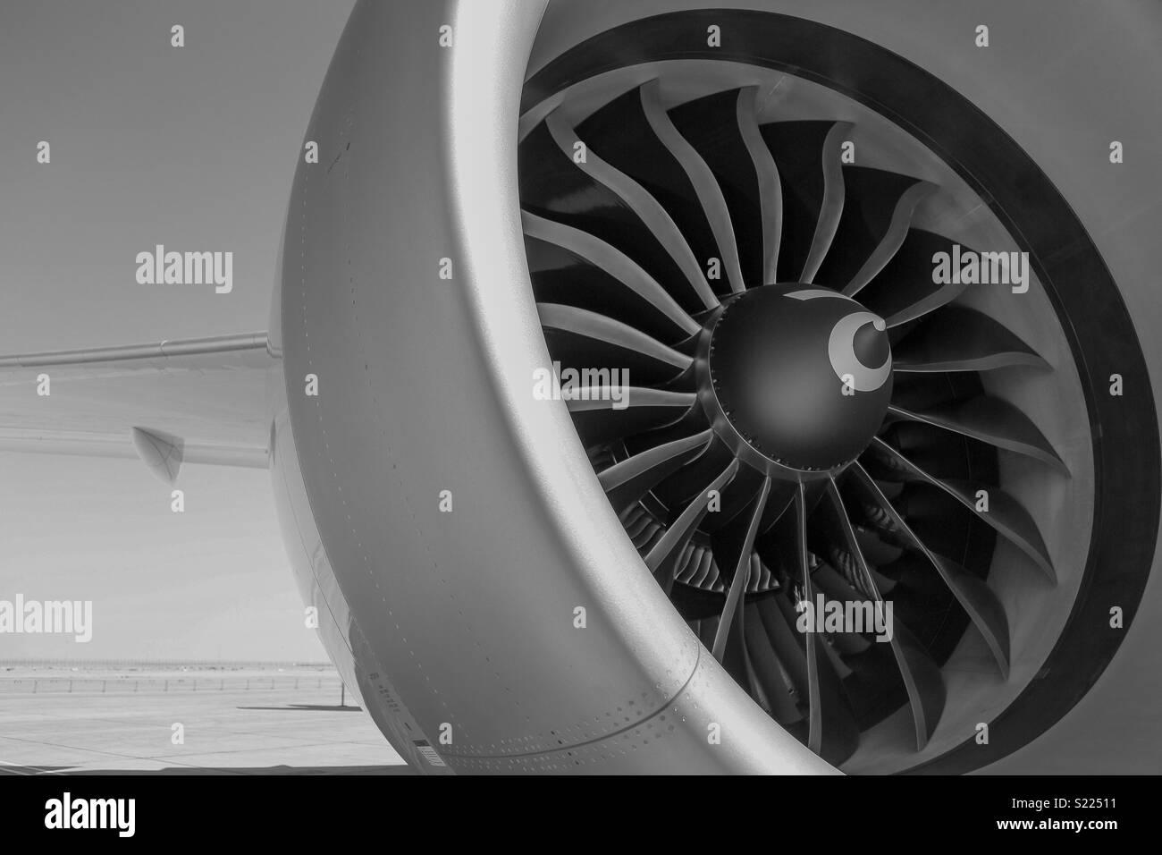 Airbus Engine - Stock Image