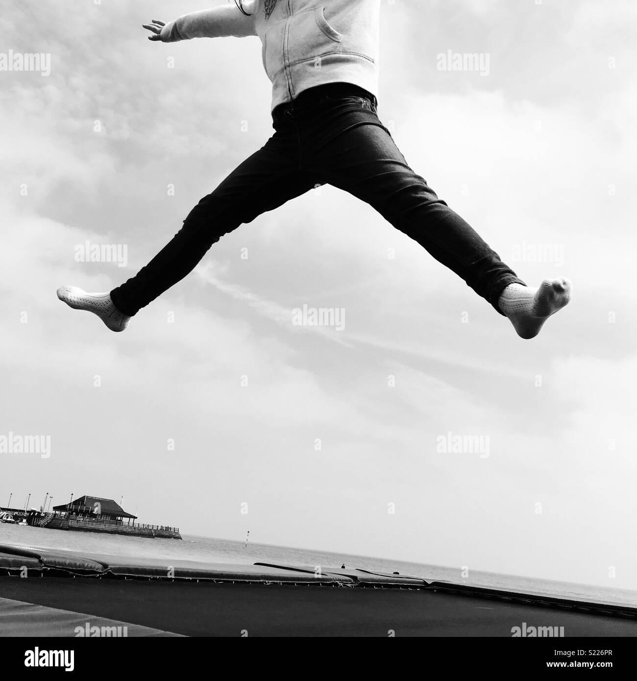 Jump - Stock Image