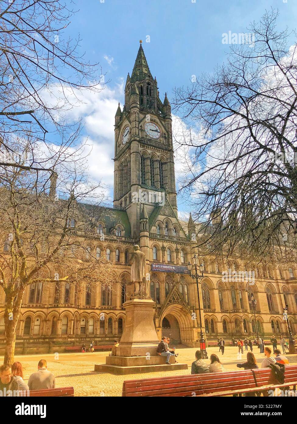Manchester Town Hall - Stock Image