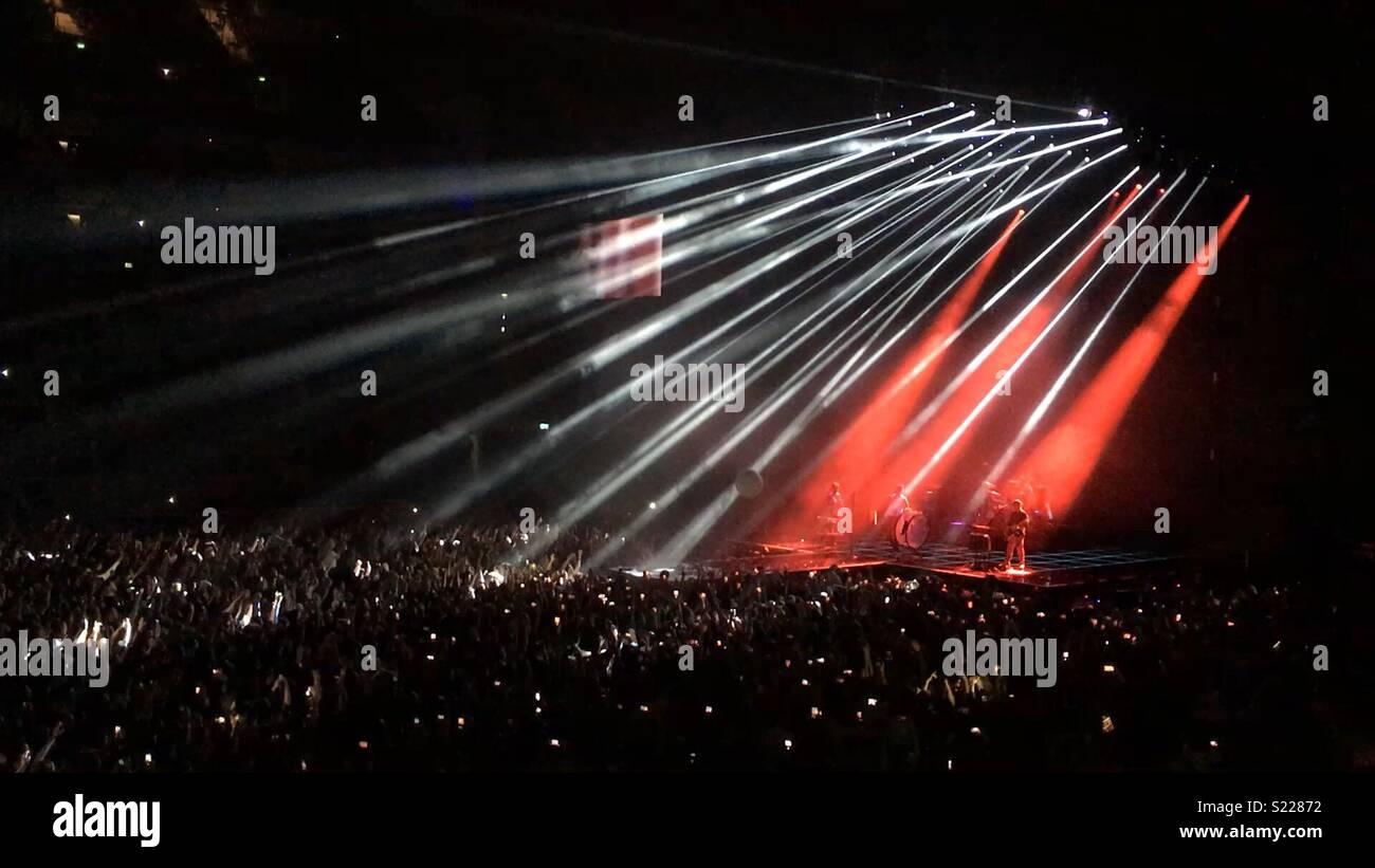 Imagine Dragons concert at the O2 London 2018 - Stock Image