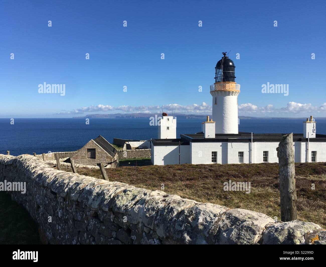 Dunnet Head Lighthouse - Stock Image