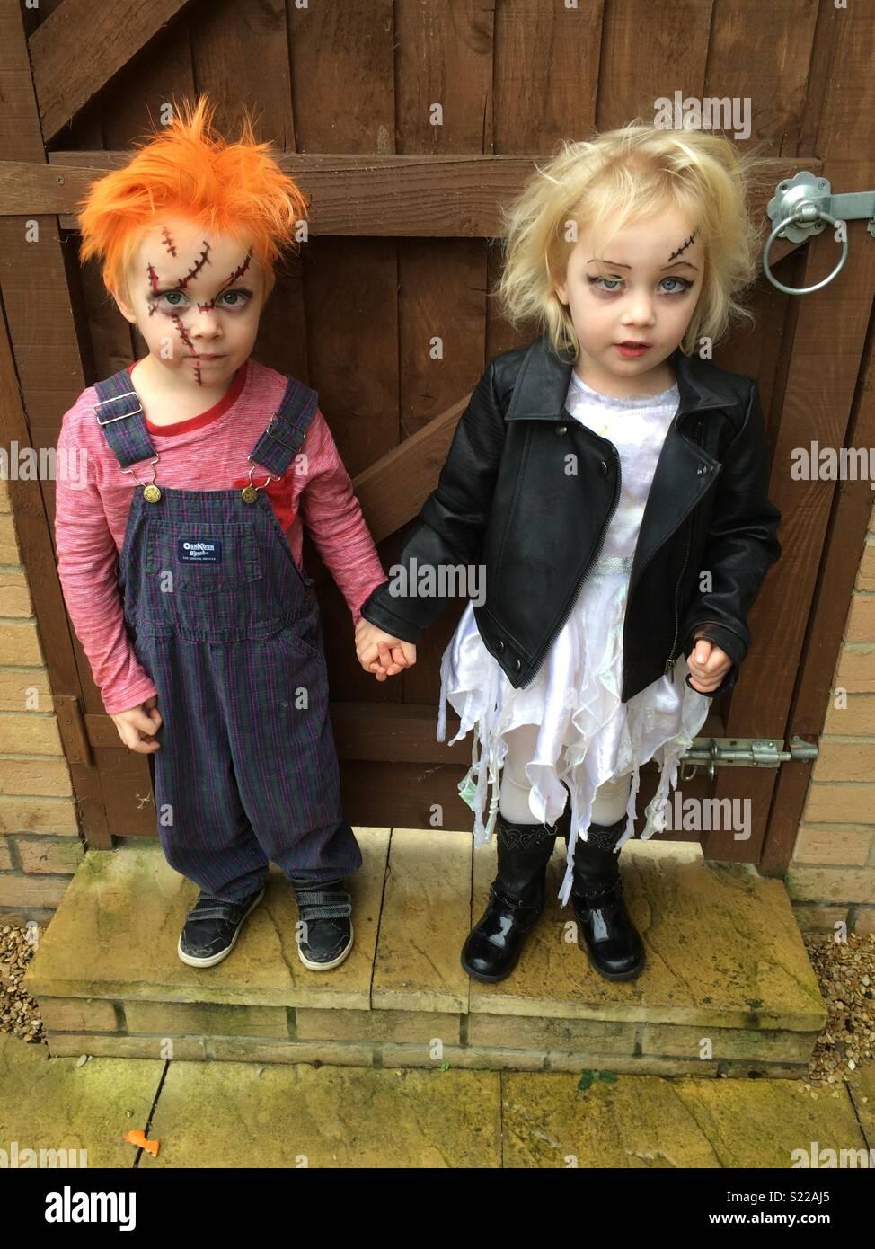 halloween costumes for children stock image