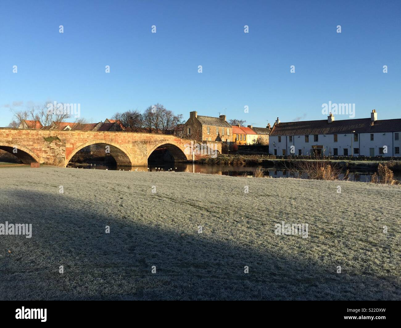 Bridge over river Tyne, Haddington - Stock Image