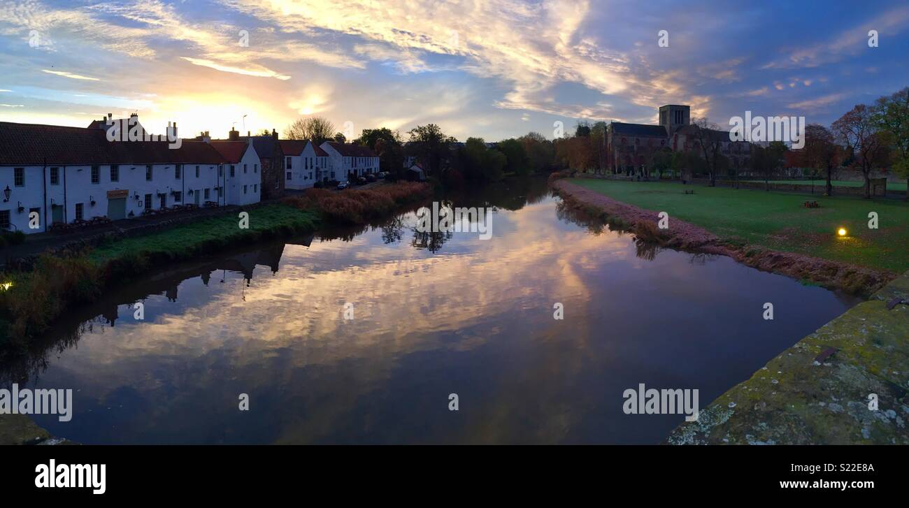 Haddington, River Tyne, Scotland - Stock Image