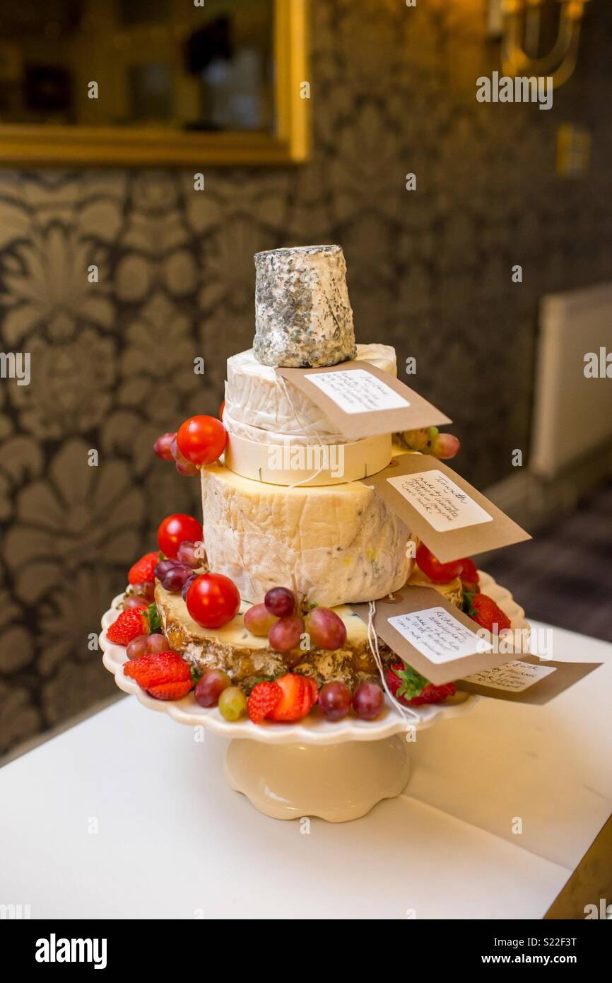 Cheese Wedding Cake - Stock Image