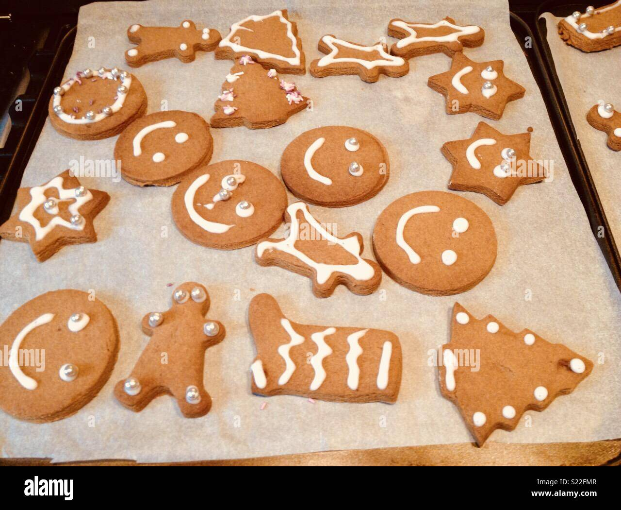 Homemade Christmas Biscuits On A Baking Sheet Stock Photo 311072183