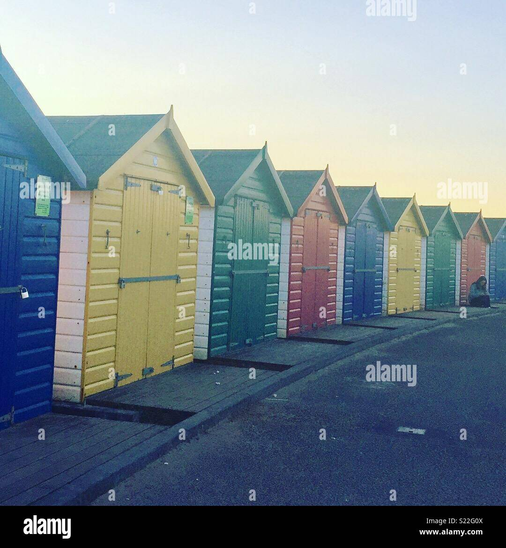 Beach houses in Devon - Stock Image