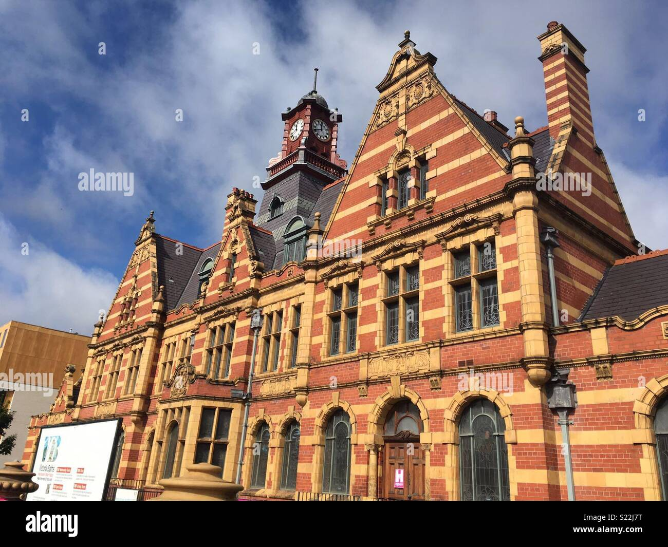 The front of Victoria baths in manchester, wedding venue and filming locations for peaky blinders. - Stock Image