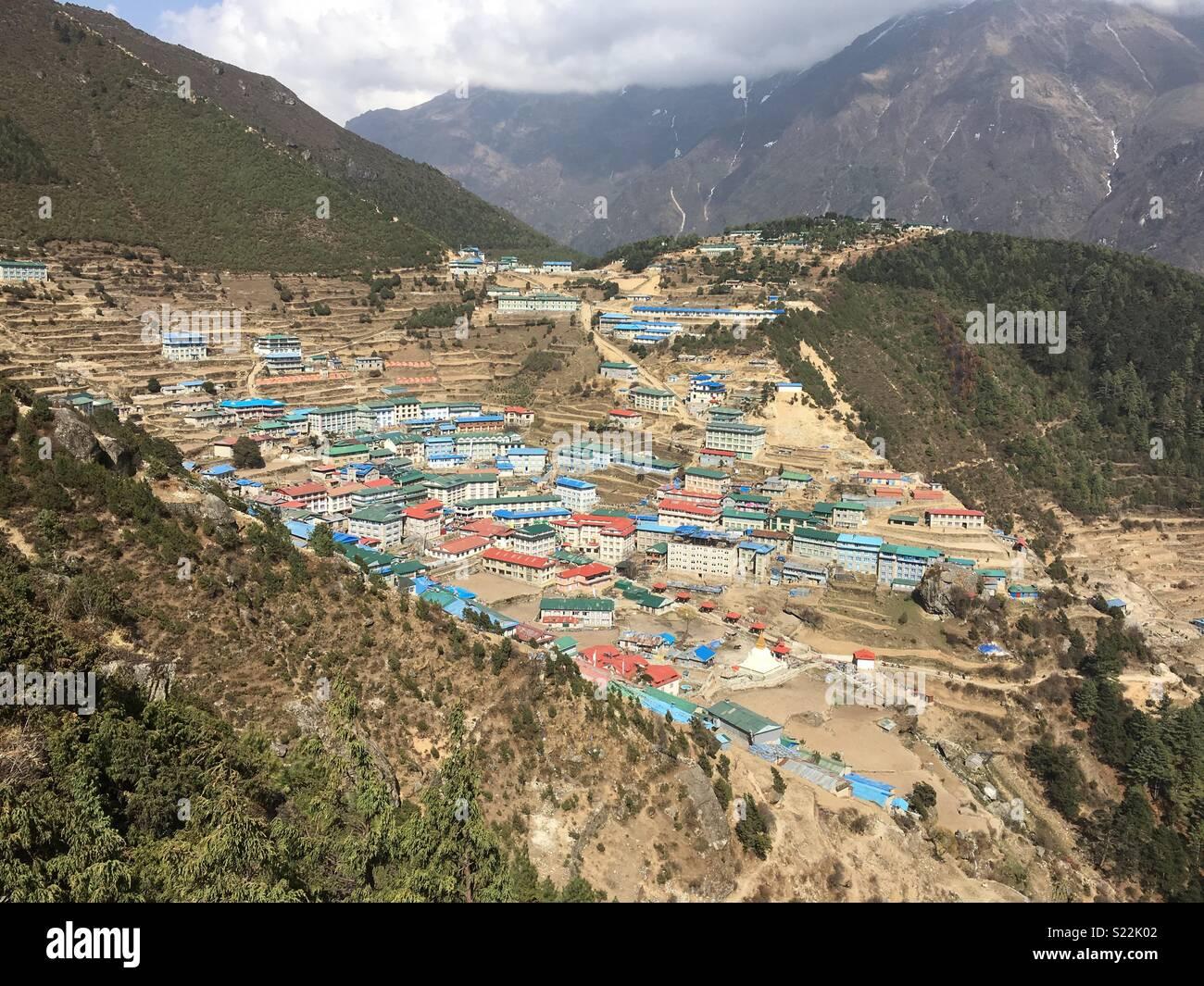 Namche Bazaar, Khumbu, Nepal - Stock Image