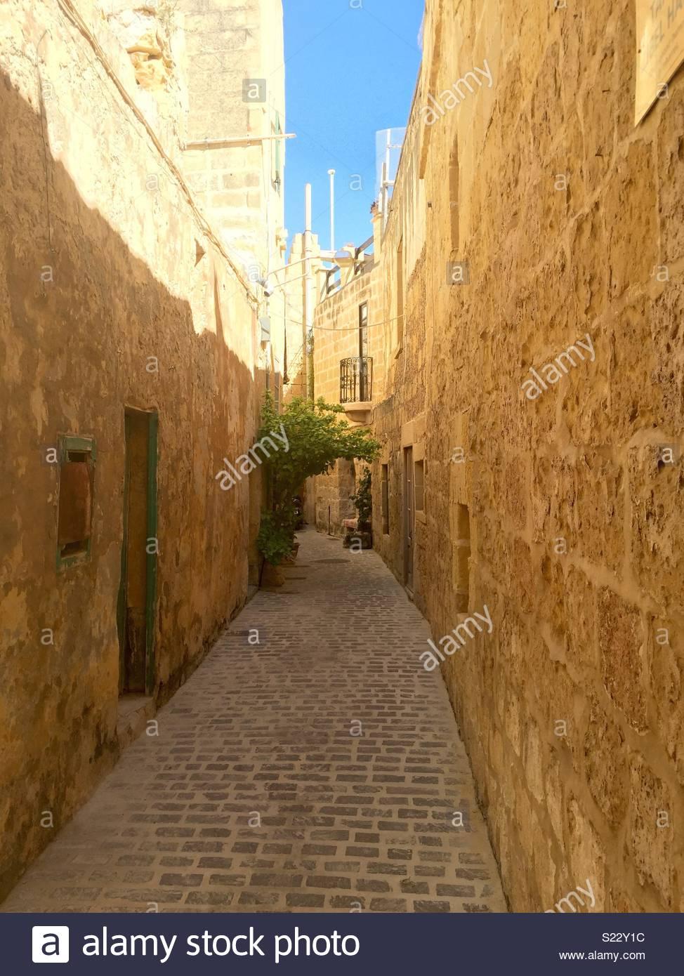 A street in Valletta - Stock Image