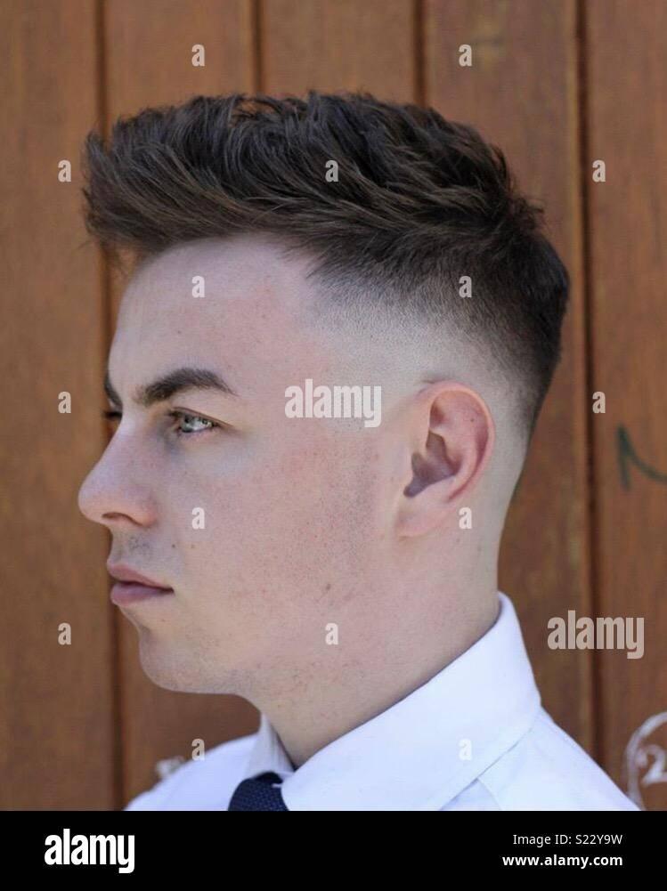 Fresh haircut - Stock Image