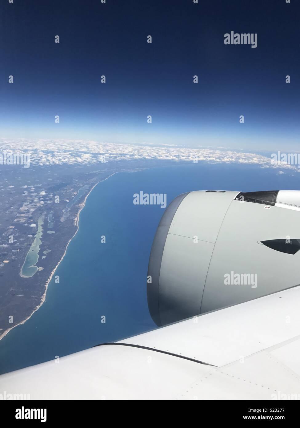 East coast Australia from 40,000 feet - Stock Image