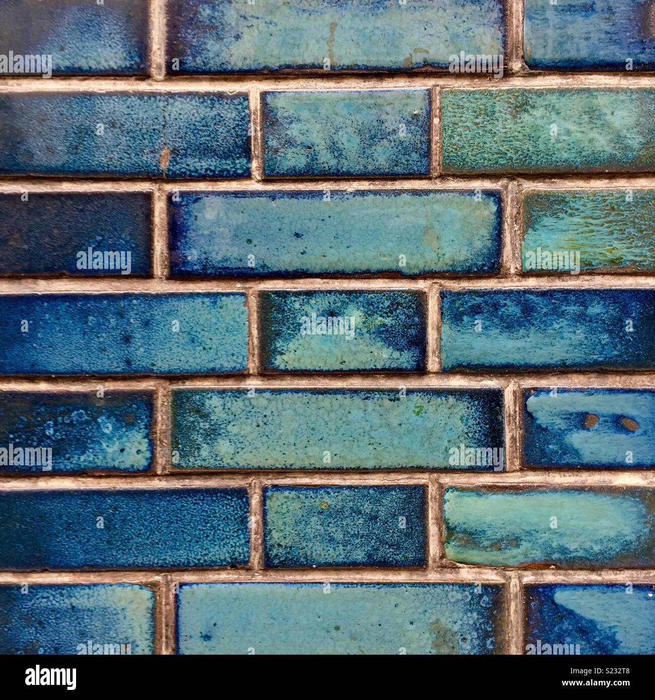 Blue ceramic tiles on wall in Paris Stock Photo: 311084040 - Alamy