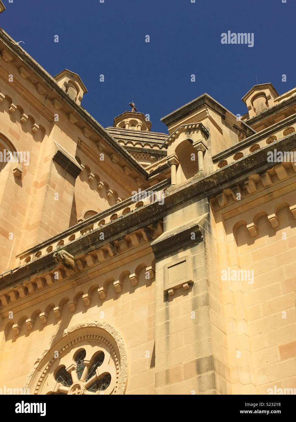 The Basilica of the National Shrine of the Blessed Virgin of Ta' Pinu - Stock Image