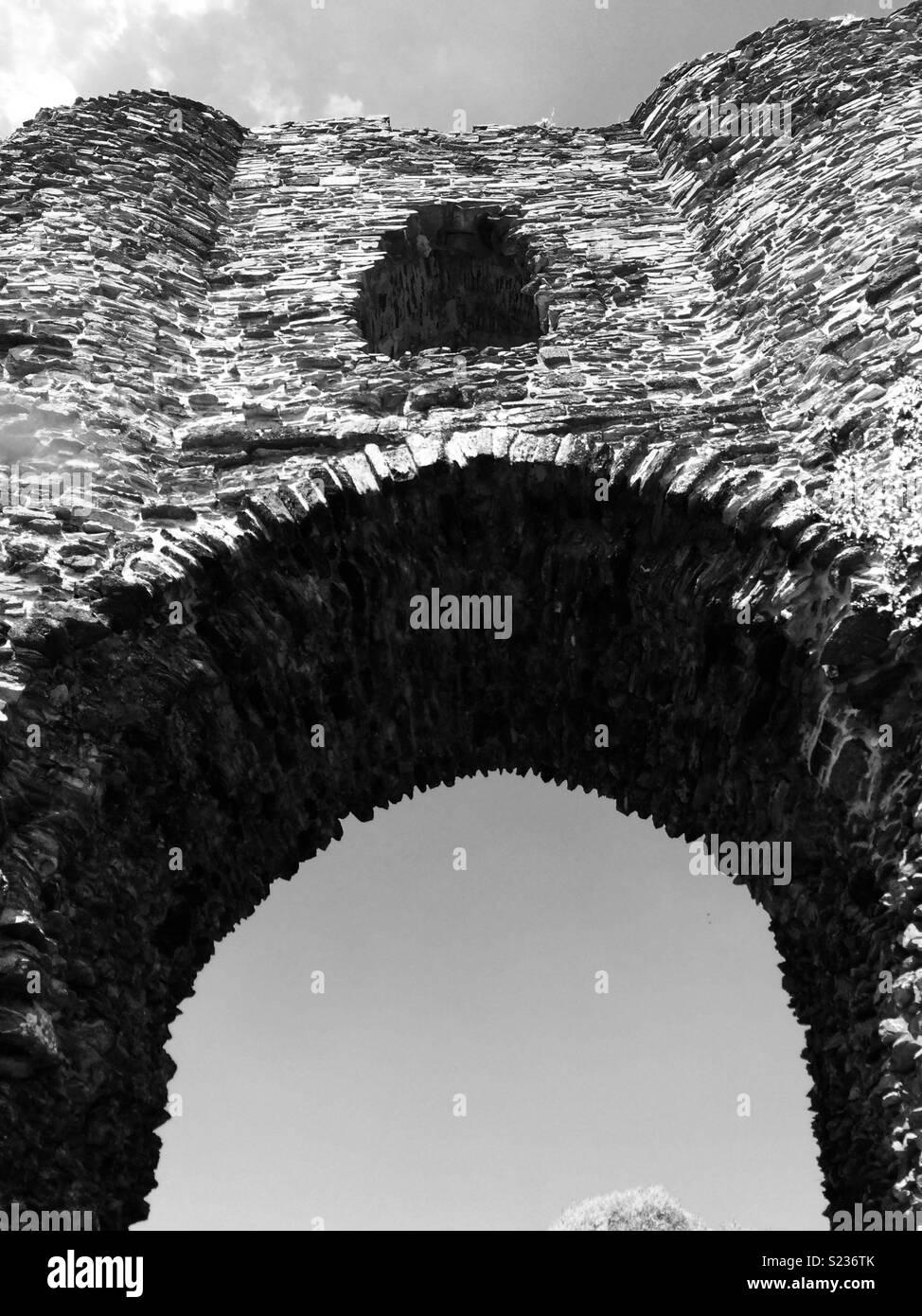 Launceston Castle Entrance - Stock Image