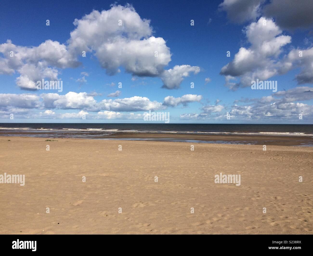 Beach at Sutton on Sea - Stock Image