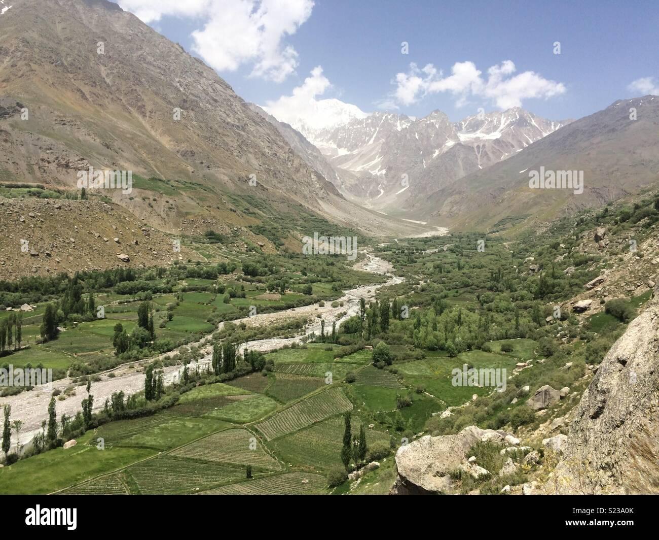 View from Kiyar Karimabad-Chitral, KPK - Stock Image