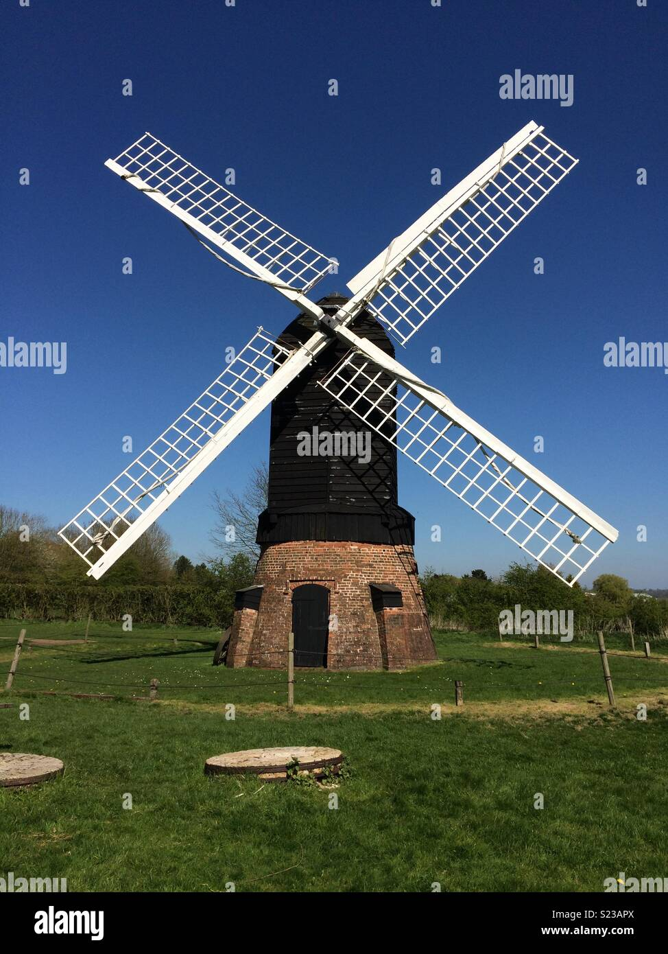 Windmill at Avoncroft Museum - Stock Image