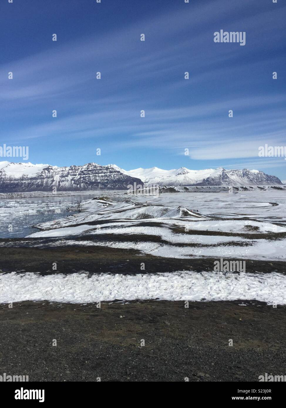 Glorious glacier in Iceland - Stock Image