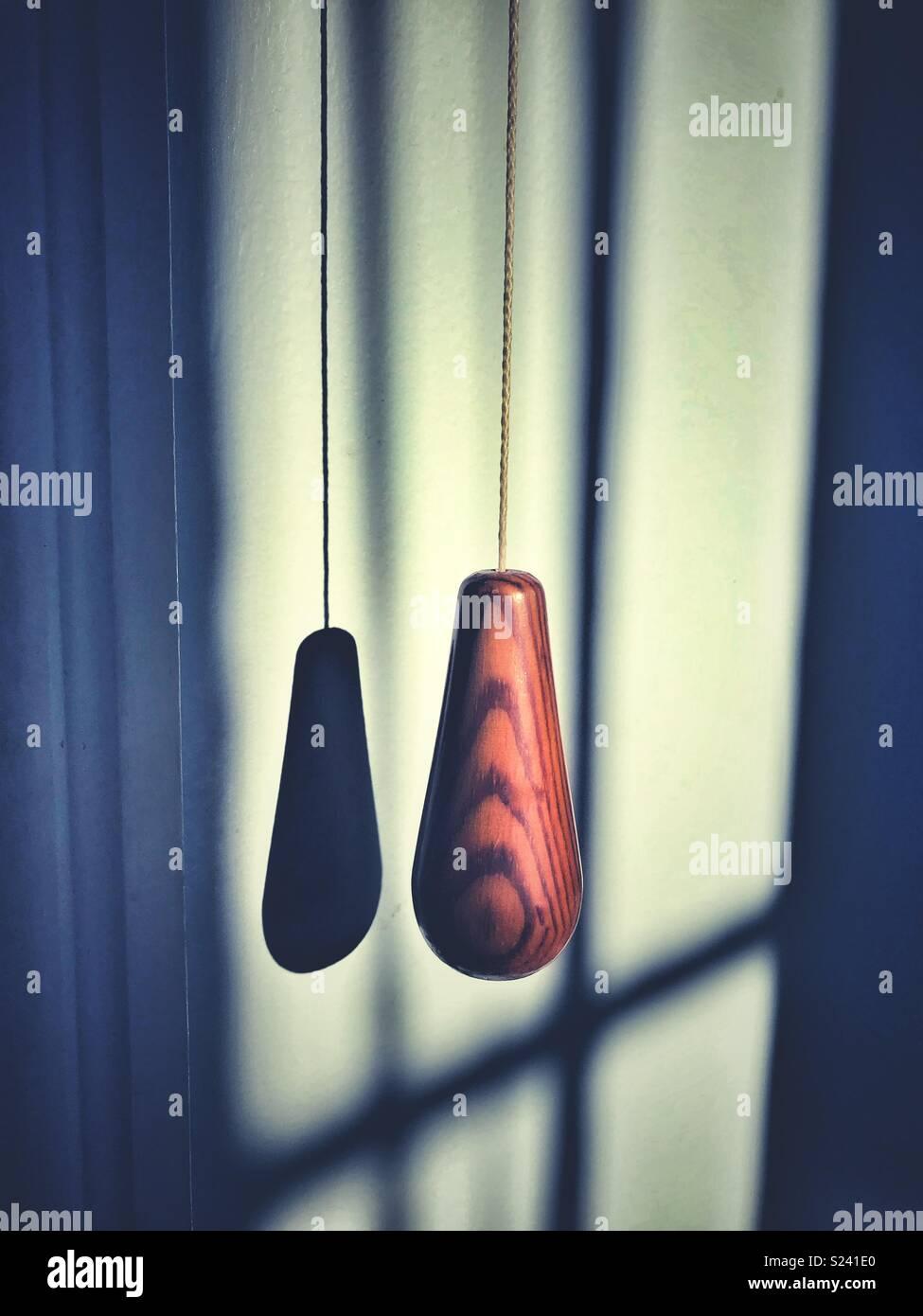 A wooden lighting handle - Stock Image
