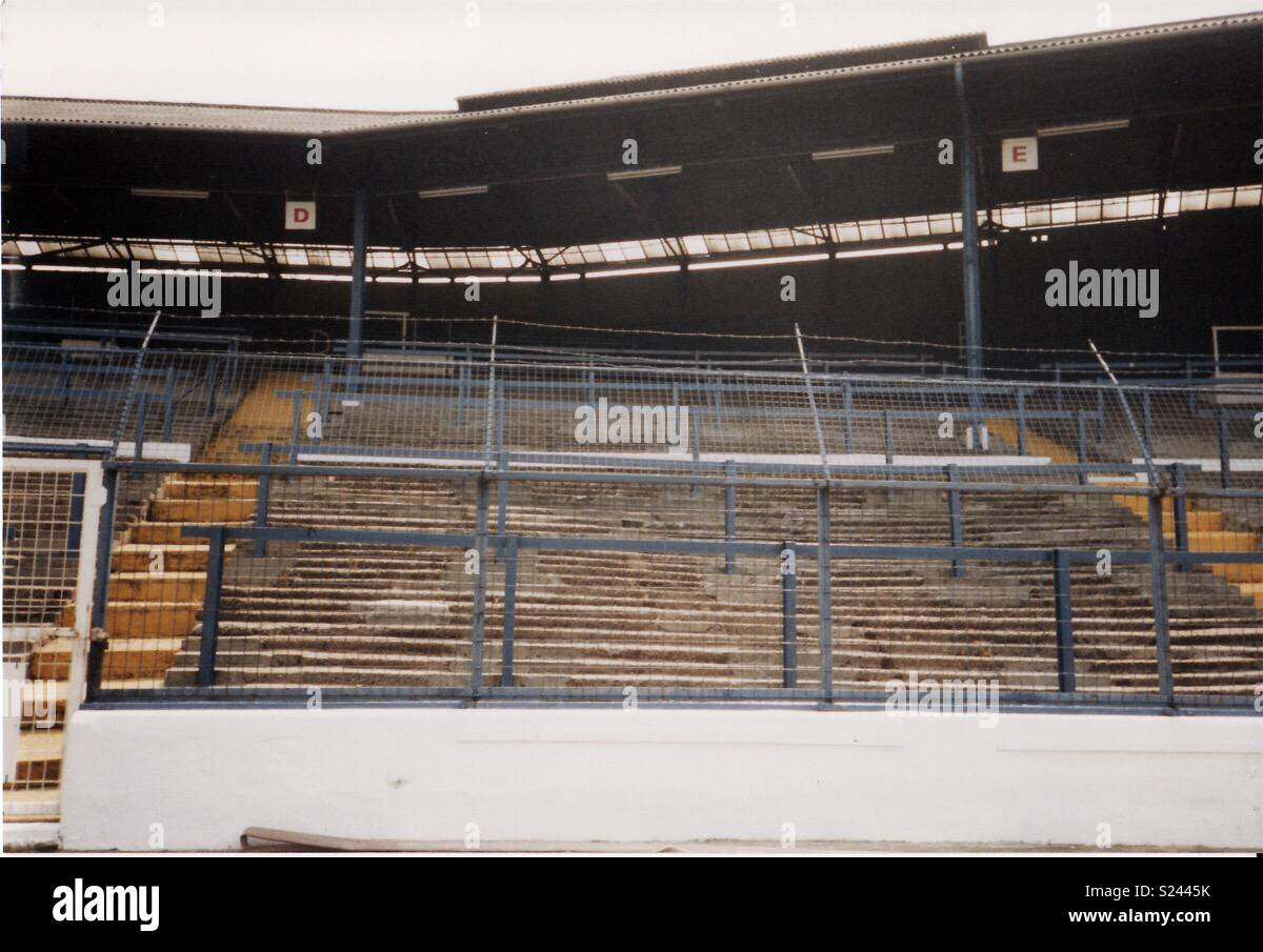The Shed End, Stamford Bridge, London 1991 Stock Photo
