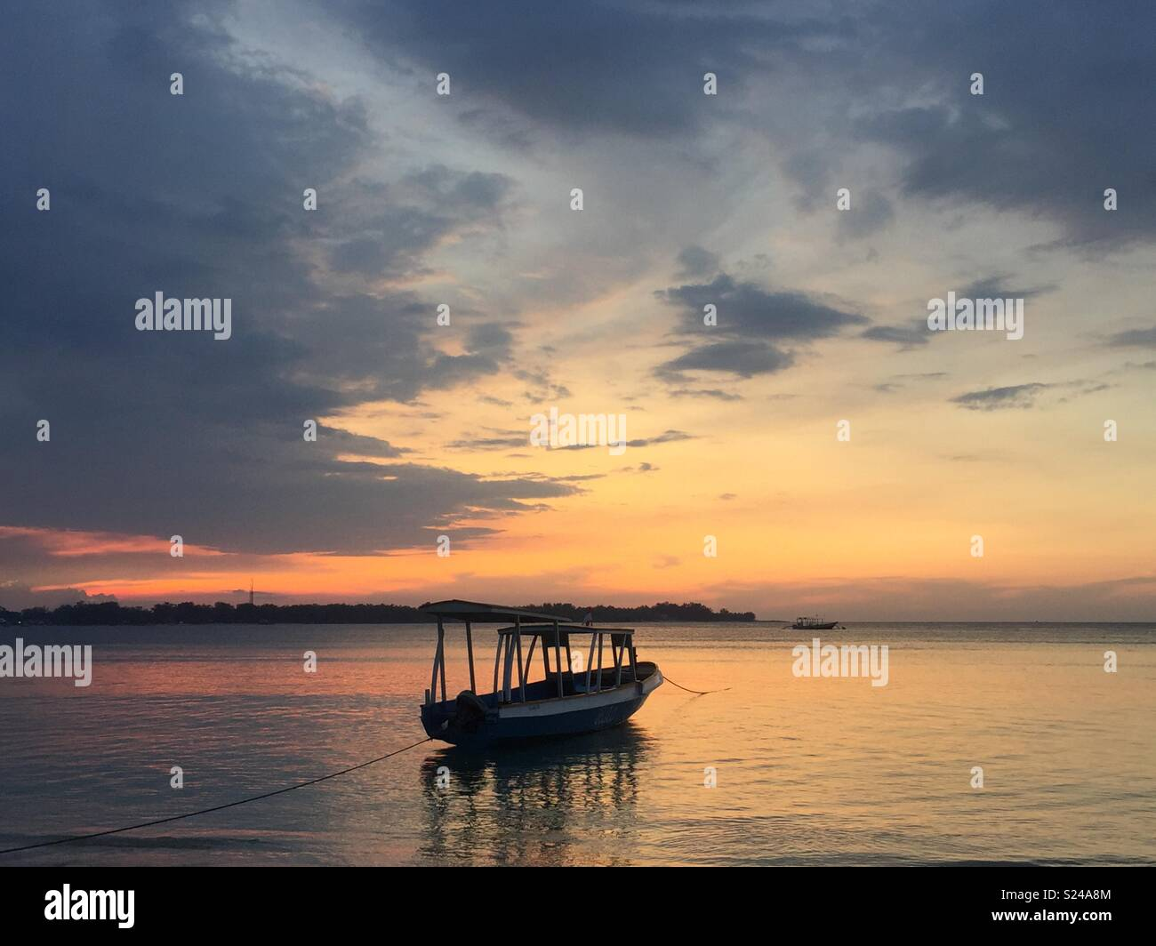 Sunset from Gili Air - Stock Image