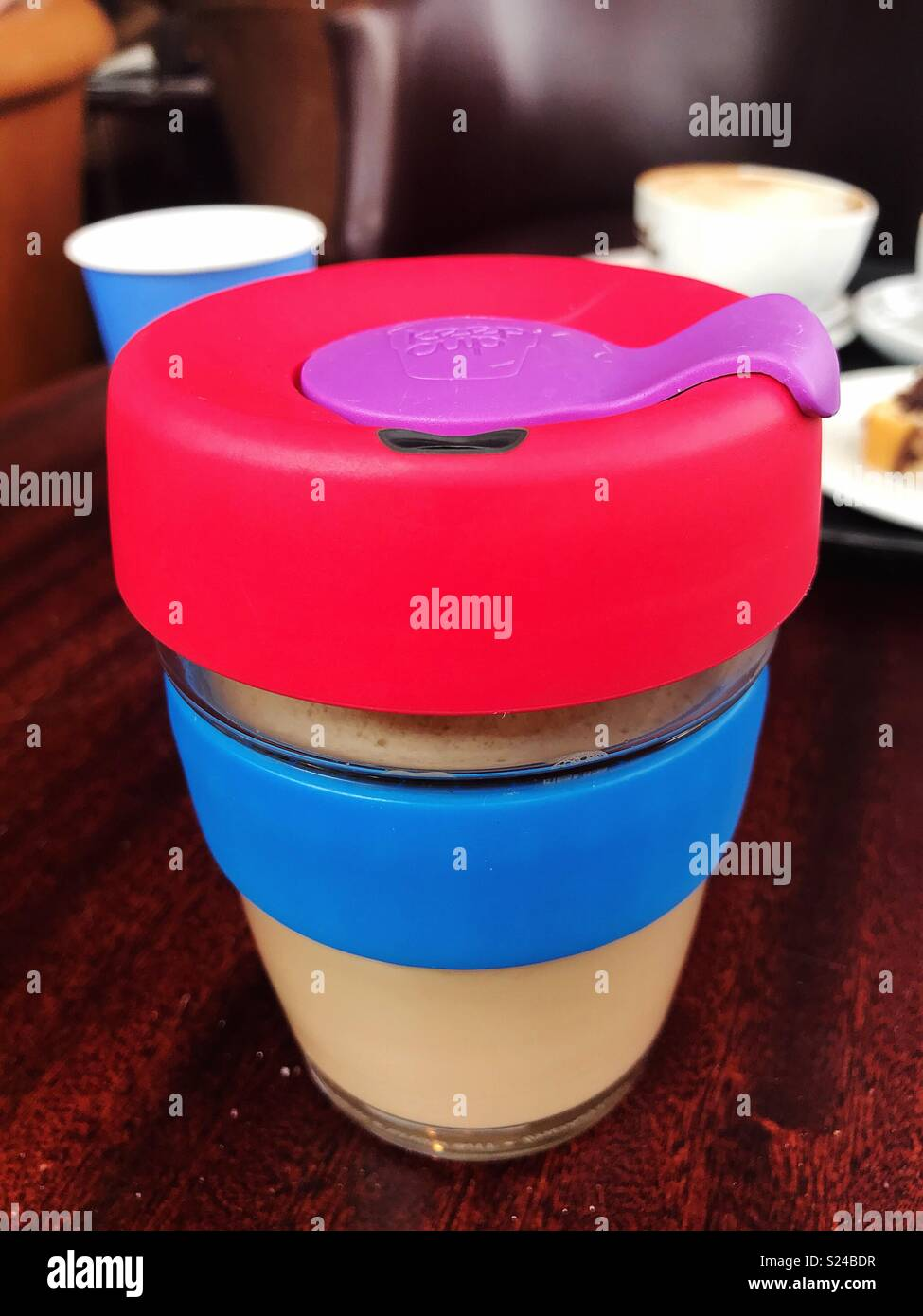 Reusable Coffee Cup - Stock Image