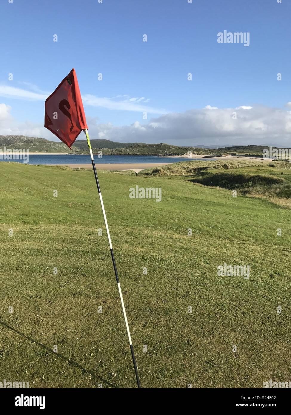 Golf links fairway - Stock Image