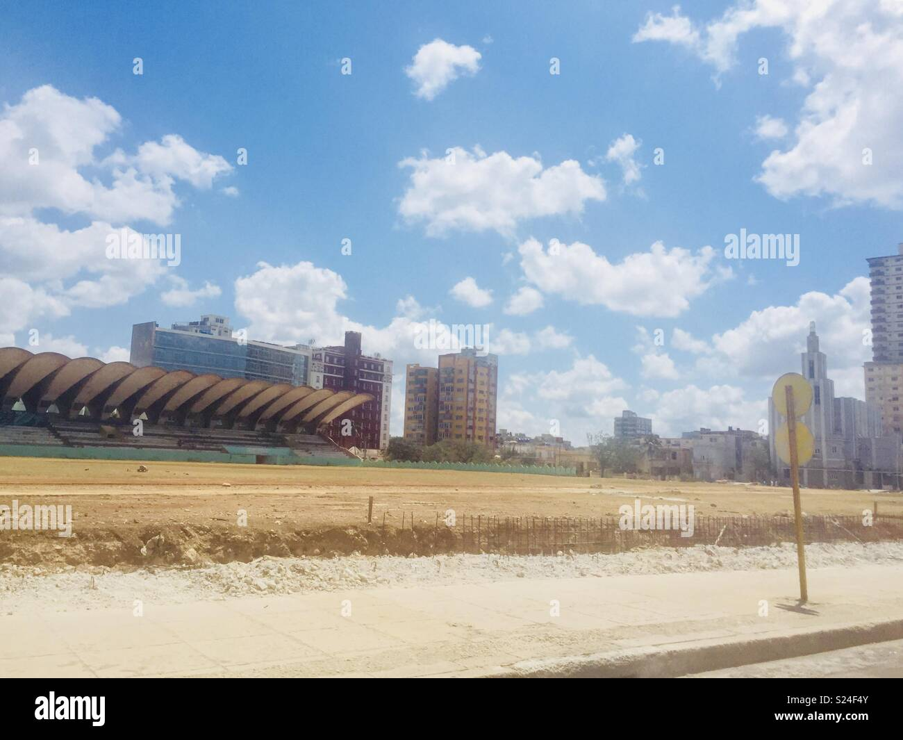 Football pitch in Havana - Stock Image